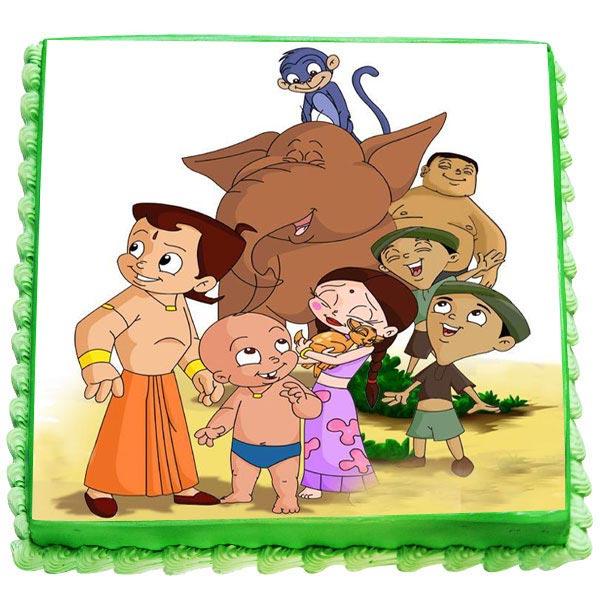 send chota bheem and friends cake gifts to bangalore