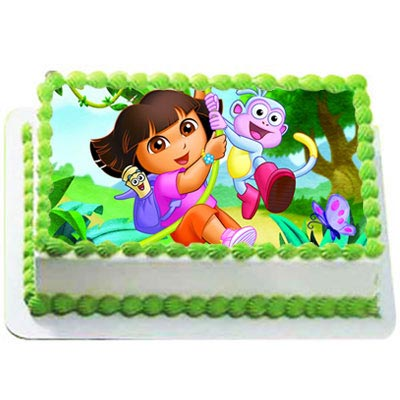 Strange Send Dora The Explorer Cake Gifts To Warangal Funny Birthday Cards Online Alyptdamsfinfo