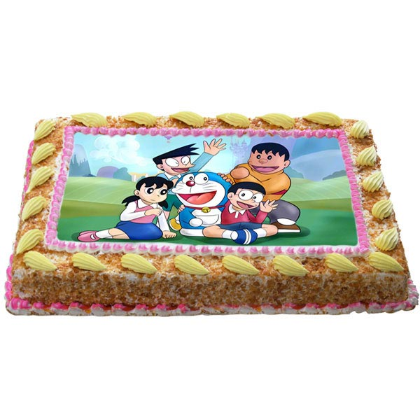 Send Doraemon With Crazy Friends Cake Gifts To Hyderabad
