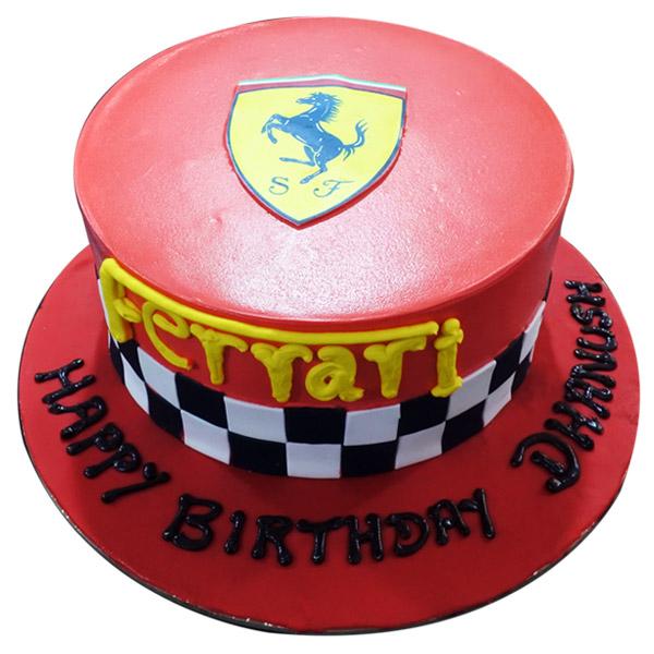 Excellent Send Ferrari Theme Cake 2 5 Kg Gifts To Hanumakonda Funny Birthday Cards Online Aboleapandamsfinfo