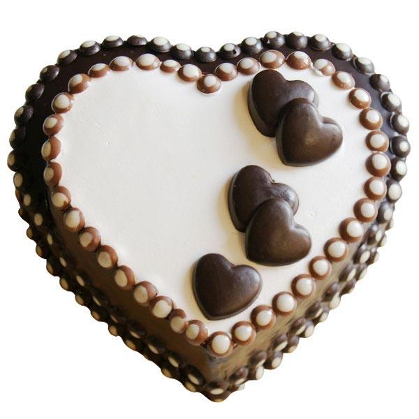 Heart-to-Heart Chocolate Cake - 2 Kg