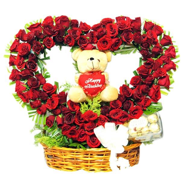 Rosy Gift Basket