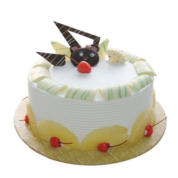 Send Round Pineapple Cake Gifts To Khammam