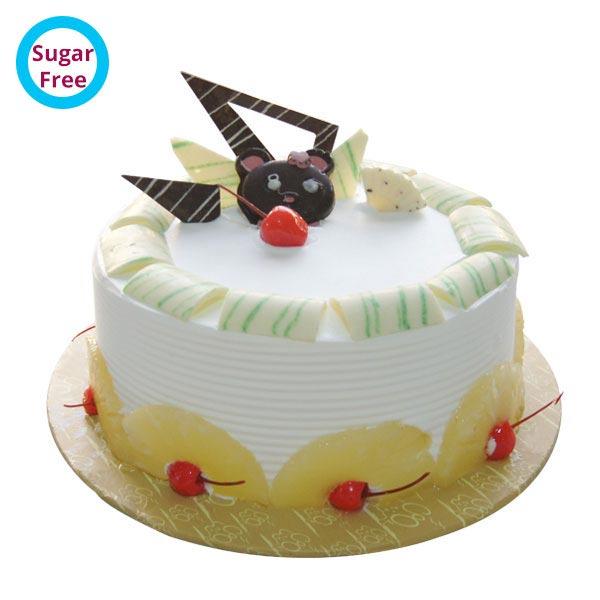 Send round pineapple sugar free cake gifts to nellore round pineapple sugar free cake negle Choice Image