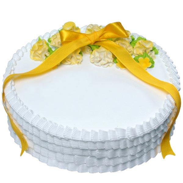 White Creamy Cake - 1.5Kg