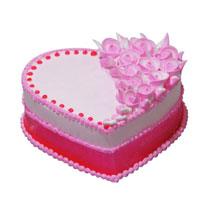 Classic Strawberry Heart Cake