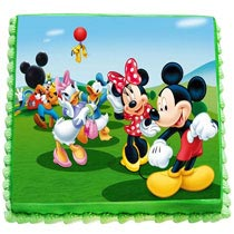 Dancing Mickey And Friends Cake