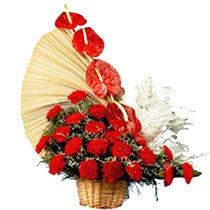 Intricate Carnation Basket