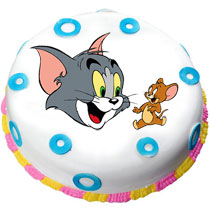 Tom Cat Photo Cake